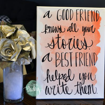 watercolor quote canvas painting