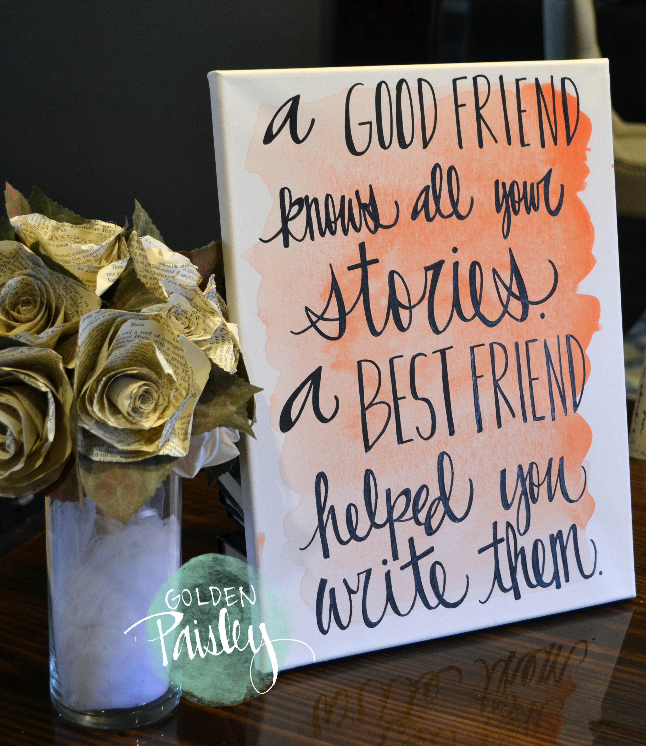 Watercolor Quote Art Bridesmaid Gift A Best Friend