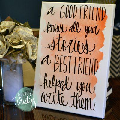 blush watercolor bridesmaid gift