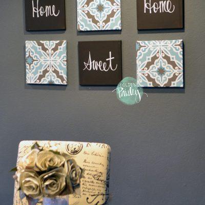 home sweet home 6 piece wall art
