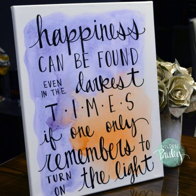 inspirational quote art watercolor