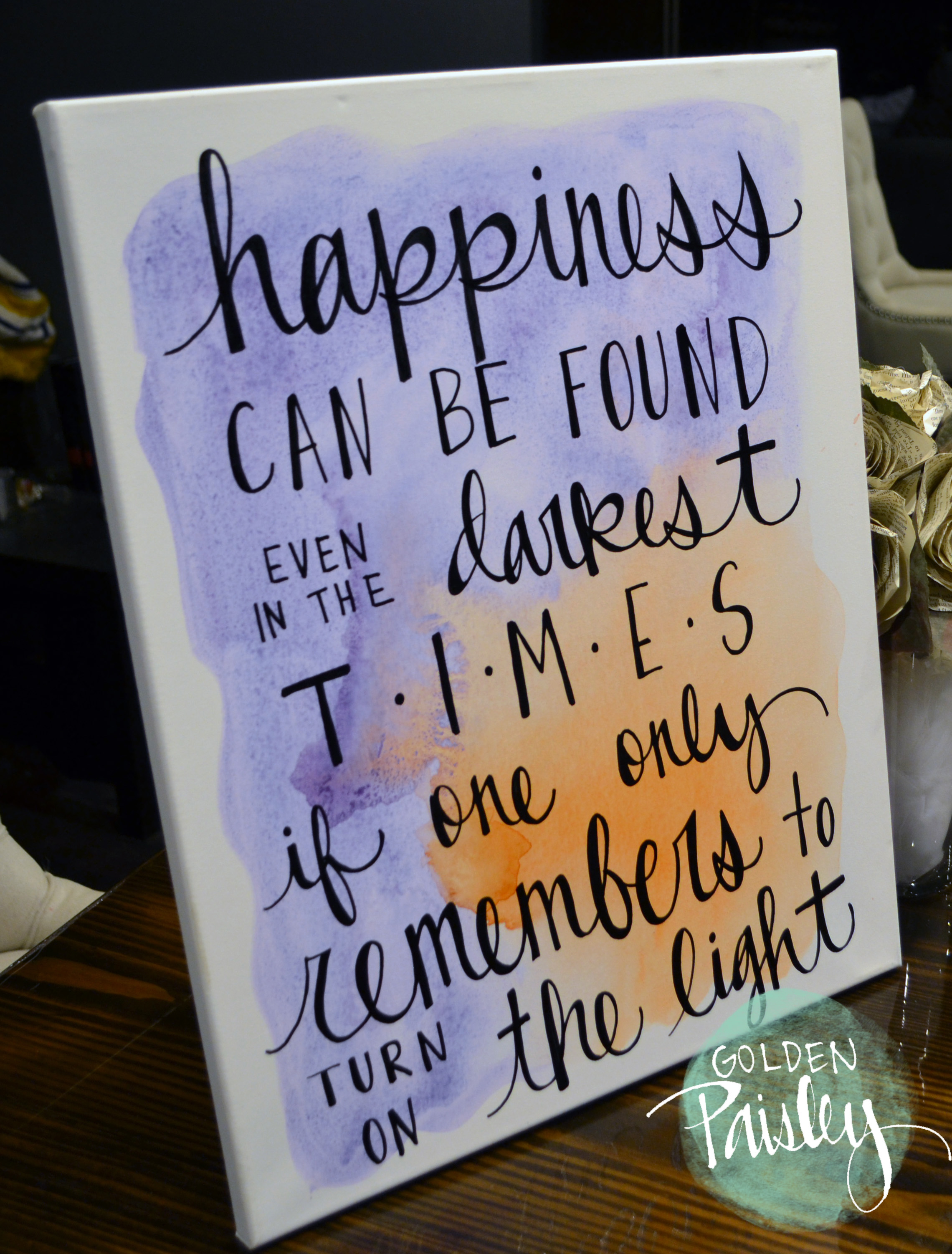 Canvas Quotes | Inspirational Watercolor Quote Wall Art The Light
