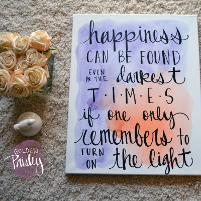watercolor quote art inspirational