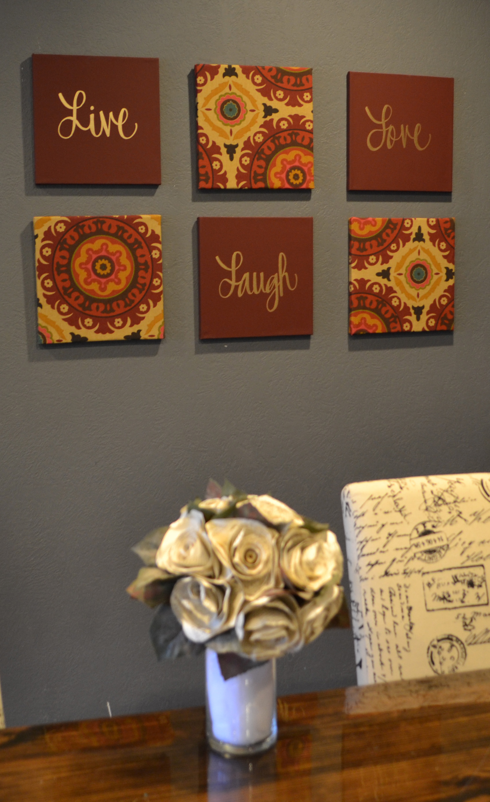Wall decor sets quote wall art wedding vow art seasonal holiday art