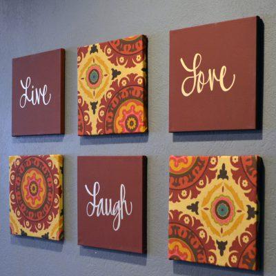 live laugh love 6 piece wall art