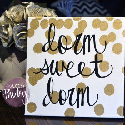 dorm sweet dorm painting