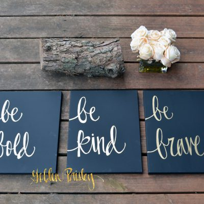 three piece inspirational art