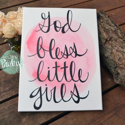 pink watercolor nursery art