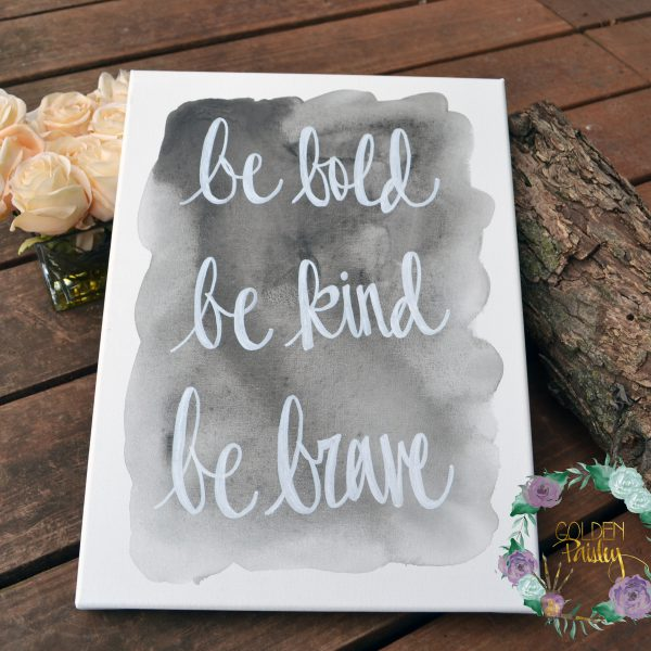 black watercolor quote art