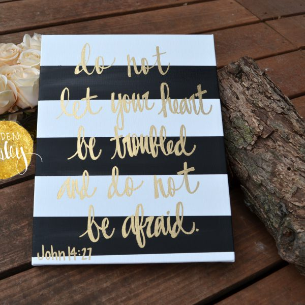 striped bible verse wall art