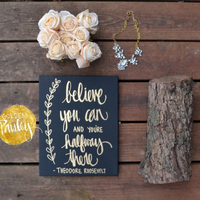 custom wall decor black and gold
