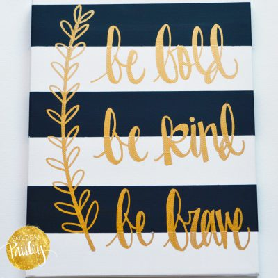 striped quote canvas art