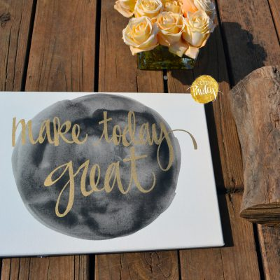 black and gold inspirational art