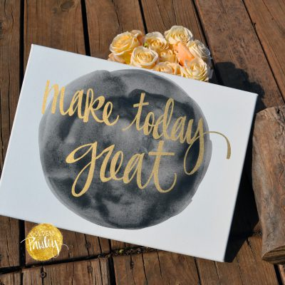 black and gold watercolor inspirational art