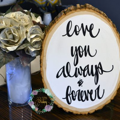rustic wedding wood slice