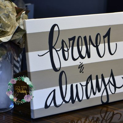 striped quote wall art