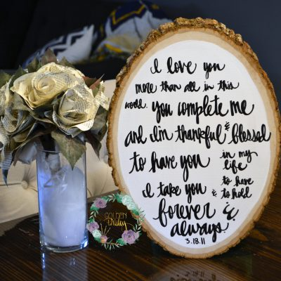 custom wedding vow painting