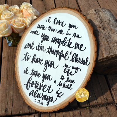 wedding vow painting