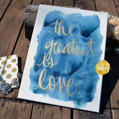 canvas quote art painting