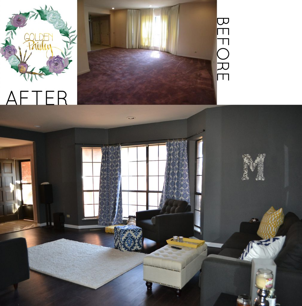 Our Fixer Upper Before And After Living Room Dining Room