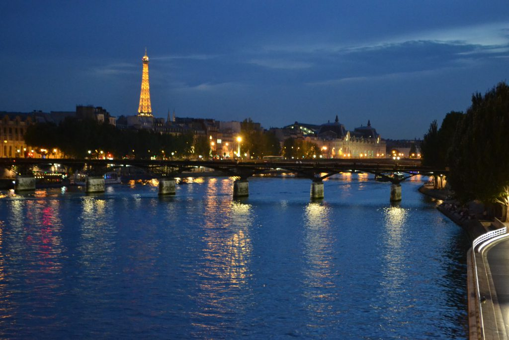 City of Lights Paris Night Time Skyline