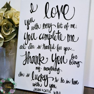 black and white wedding vows