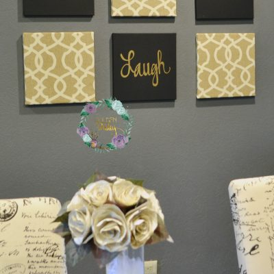 canvas painting set black and gold