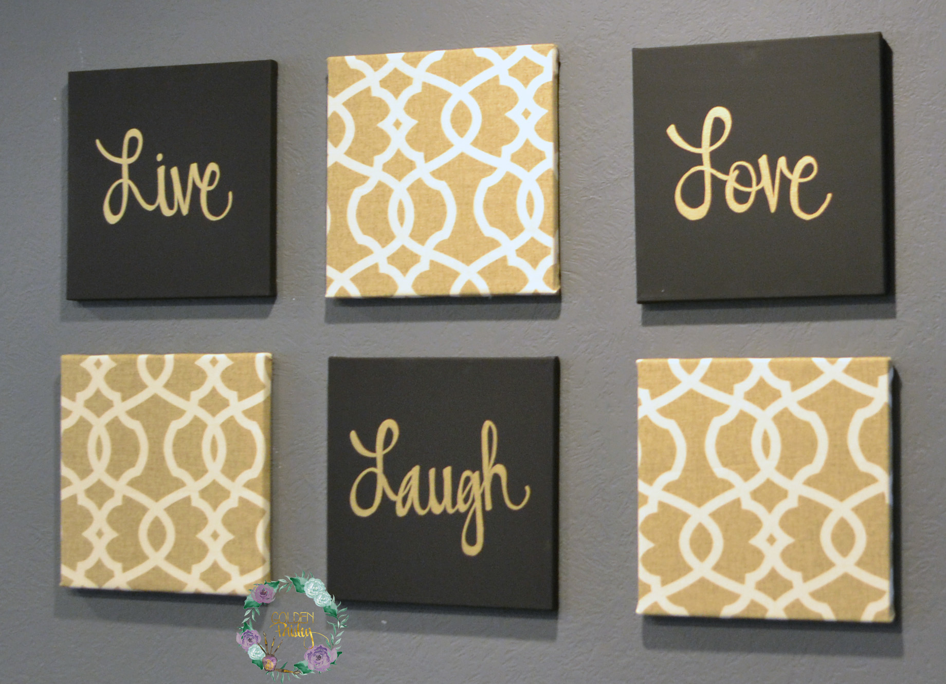 Black And Gold Wall Art Images