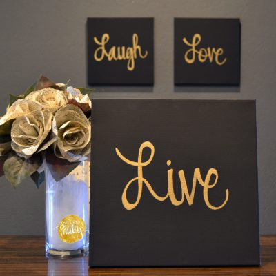 live laugh love home decor art