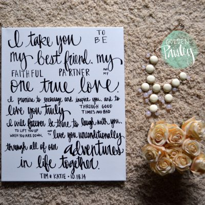 canvas art wedding decoration