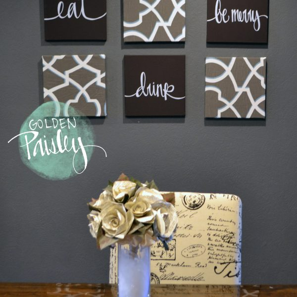 eat drink be merry wall art 6 piece set