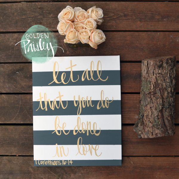 bible verse painting