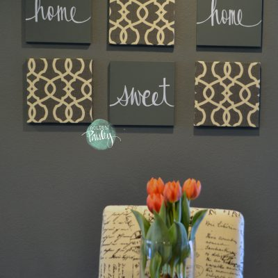 home sweet home large wall art set