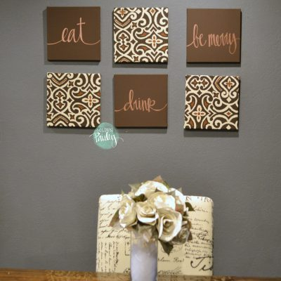 eat drink be merry brown wall decor