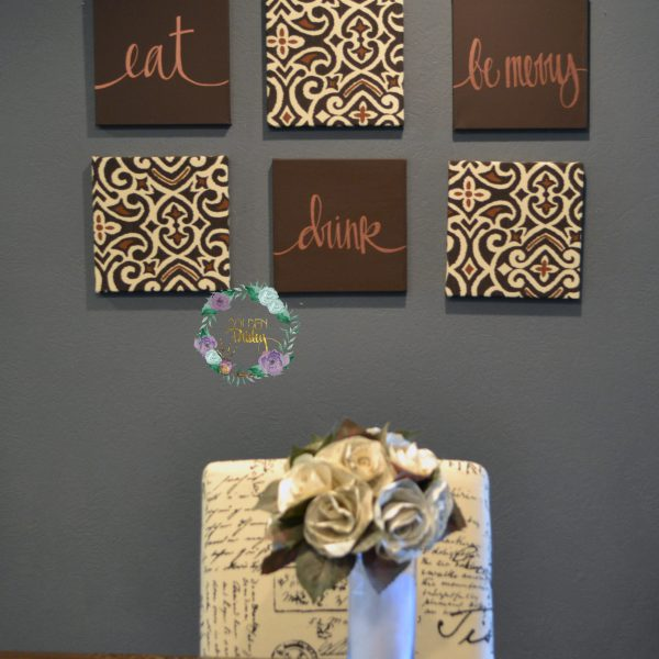brown wall decor set