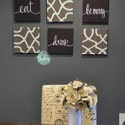 eat drink be merry dark brown wall art