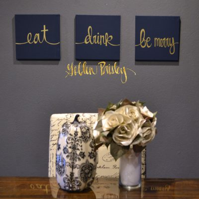 eat drink be merry navy wall art