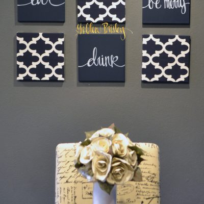 Navy Blue Wall Decor navy blue wall art set