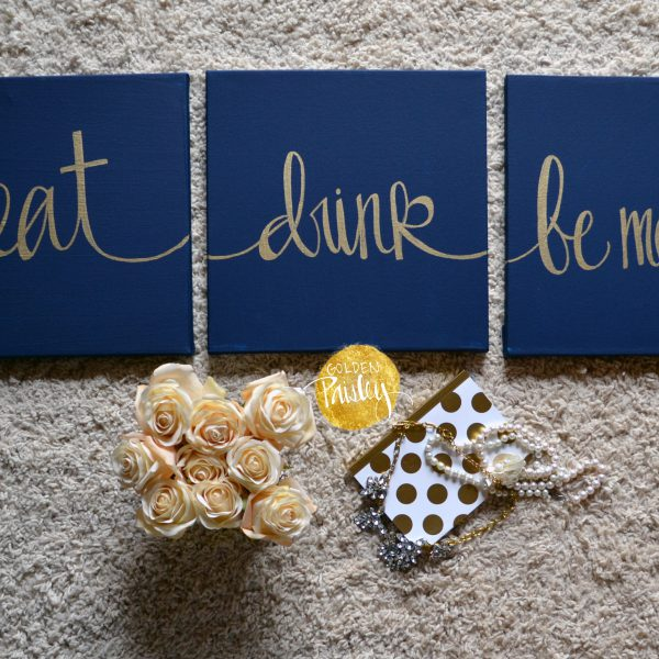 eat drink be merry wall art set
