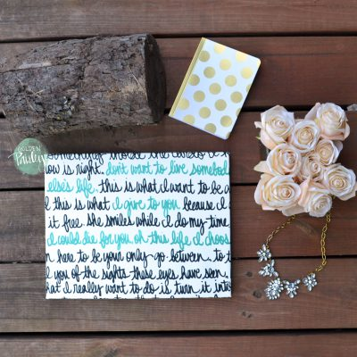 wedding vow song lyric art