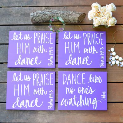 purple dance recital gift canvas