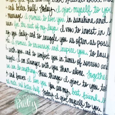 wedding vow wall art painting
