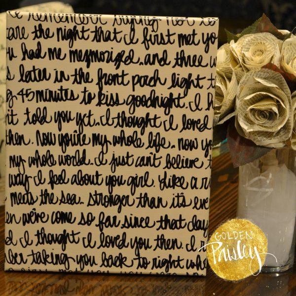 cream and black wedding vow art