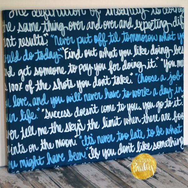 navy blue wedding decor sign