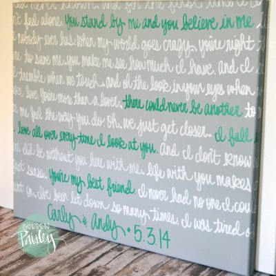 wedding vow wall art canvas
