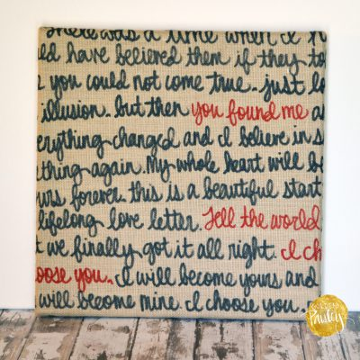 black red burlap wall decor painting