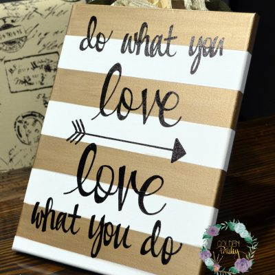 do what you love canvas painting