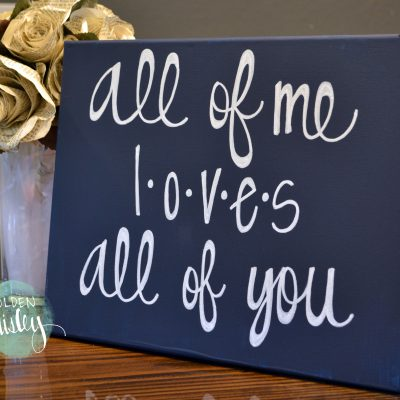 all of me love all of you canvas art