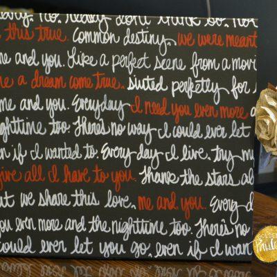 customized wedding vow art