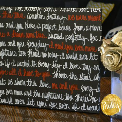 personalized wedding vows on canvas